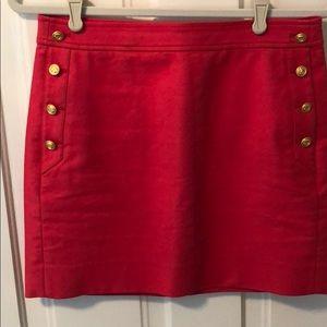 Red j crew skirt